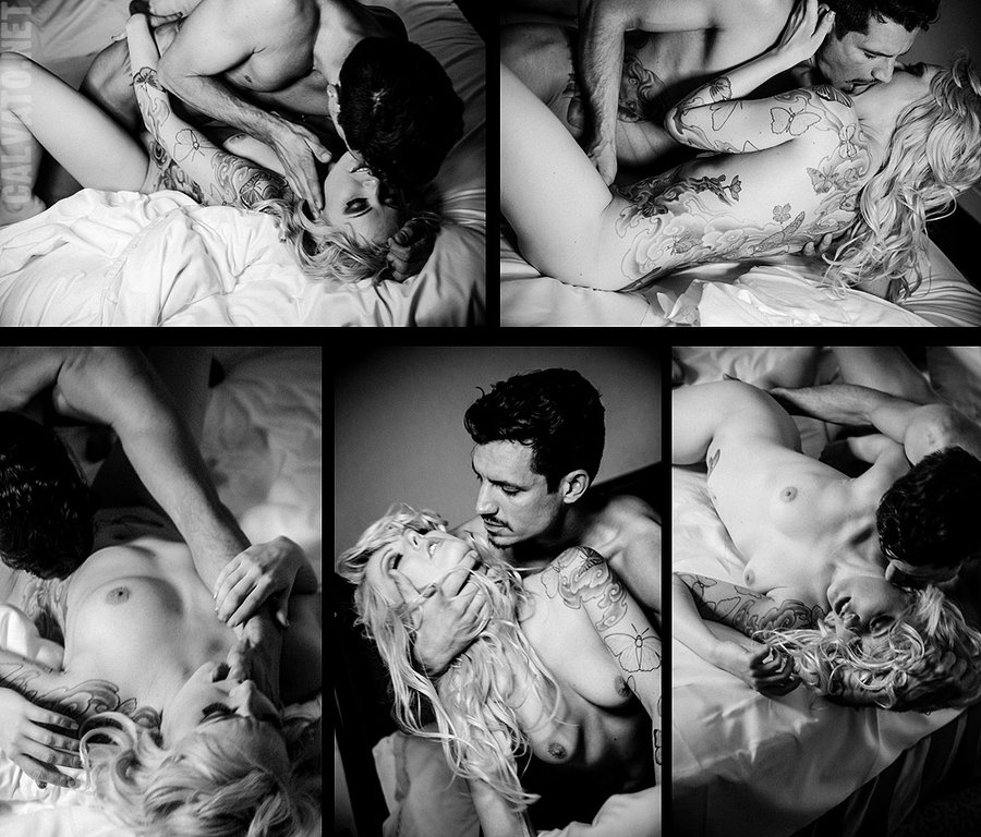 Sexy nude tattooed couples amusing